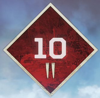Wild Frontier Level 10 Badge