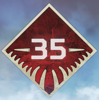 Wild Frontier Level 35 Badge