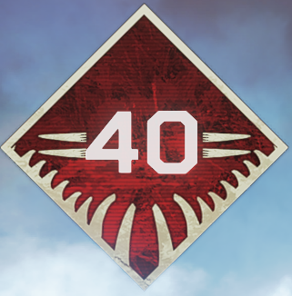 Wild Frontier Level 40 Badge