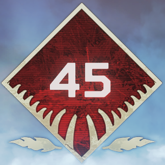Wild Frontier Level 45 Badge