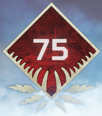 Wild Frontier Level 75 Badge