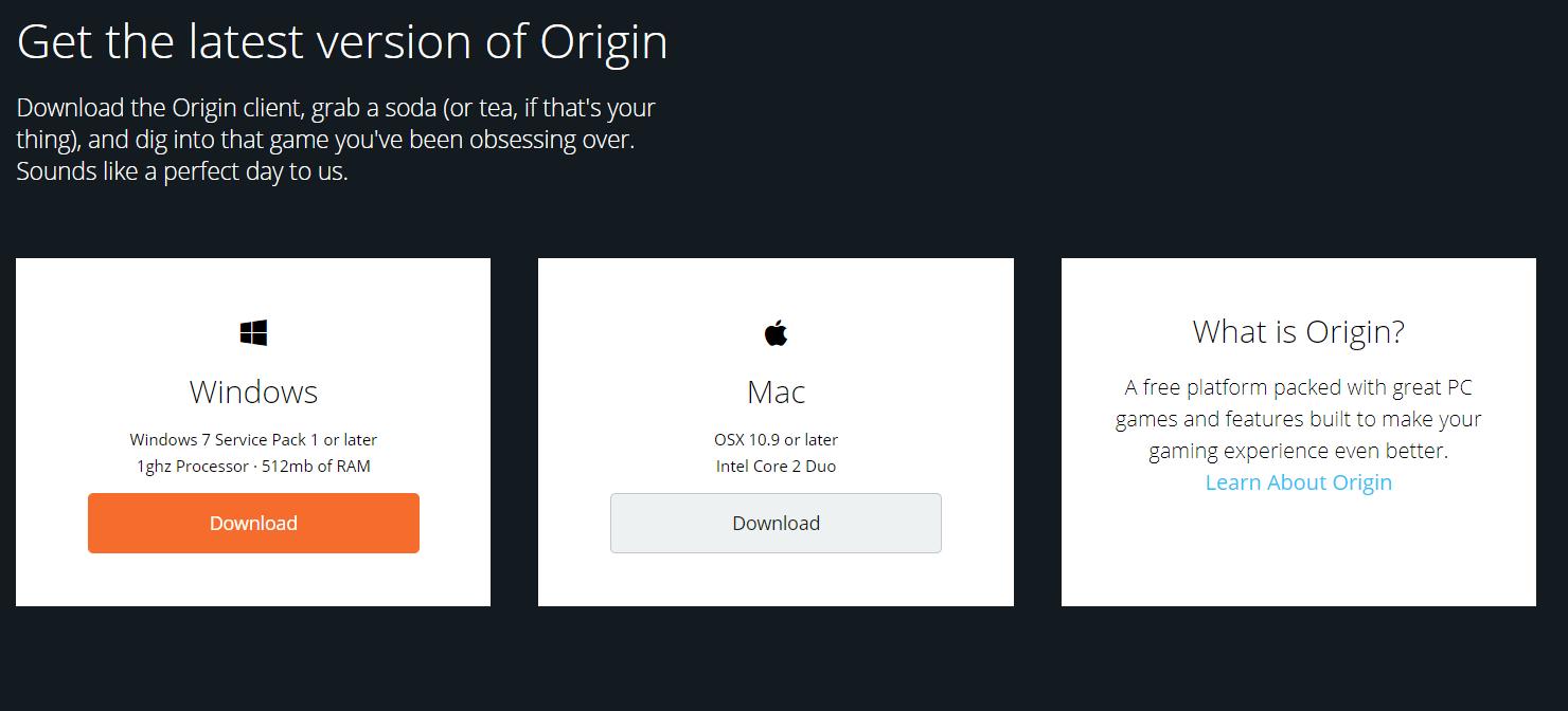 Origin Account Login